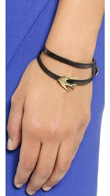 McQ - Alexander McQueen Swallow Mini Wrap Bracelet