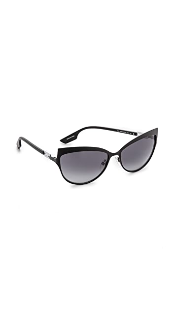 McQ - Alexander McQueen Metal Cat Eye Sunglasses ...