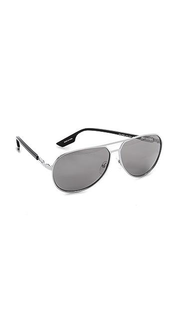 f4d49b8c10 McQ - Alexander McQueen Metal Aviator Sunglasses