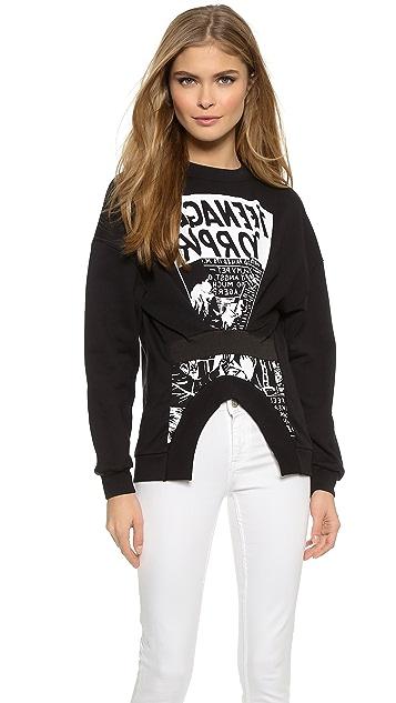McQ - Alexander McQueen Elastic Detail Sweatshirt