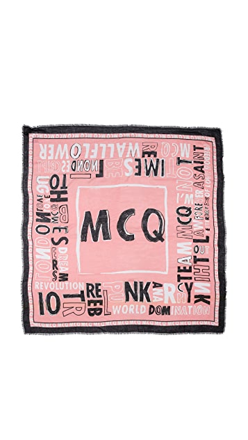McQ - Alexander McQueen McQ Letter Scarf
