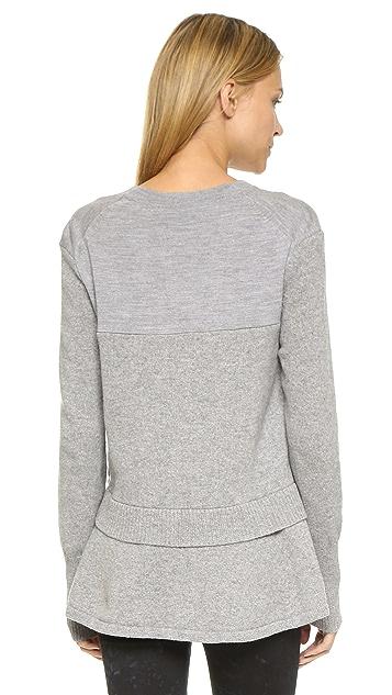 McQ - Alexander McQueen Contrast V Neck Sweater