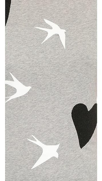 McQ - Alexander McQueen Heart and Bird Classic Tee