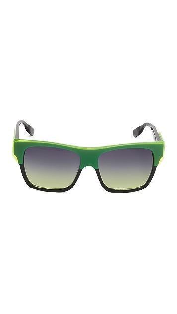 McQ - Alexander McQueen Flat Top Square Sunglasses
