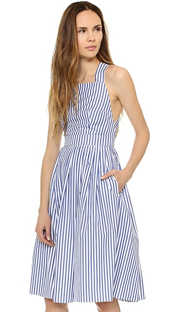 MDS Stripes Crisscross Dress