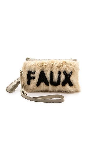 Me and Her Casselini Faux Fur Cross Body Clutch