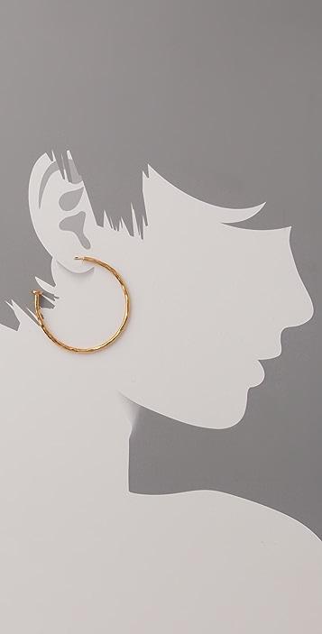 MELINDA MARIA Galaxy Textured Hoop Earrings