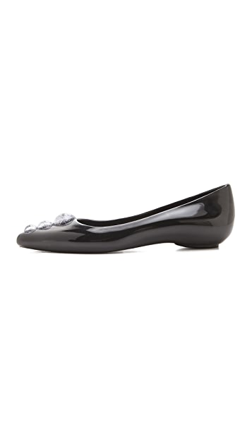 Melissa Melissa + Karl Lagerfeld Ballet Flats