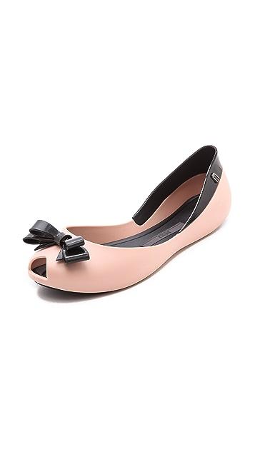 Melissa Queen Peep Toe Flats