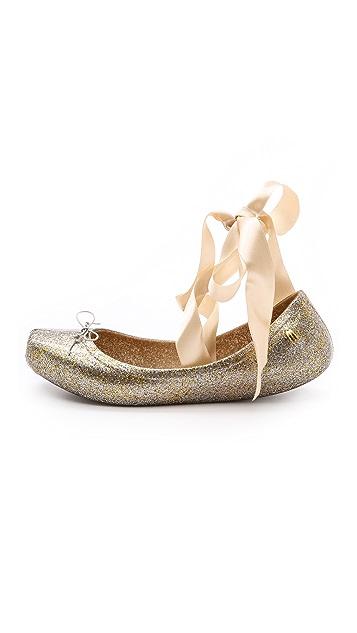 Melissa Lace Up Ballet Flats