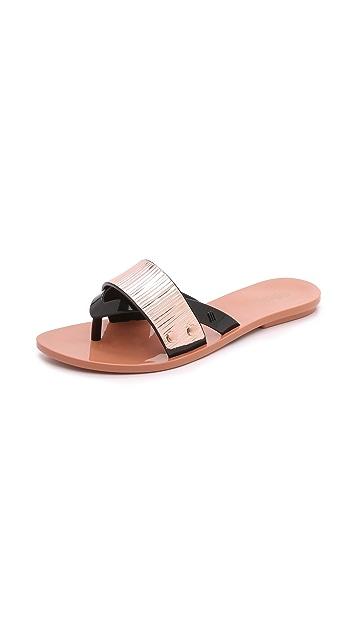 22b01e4c77e6e Melissa Cream Slide Sandals   SHOPBOP