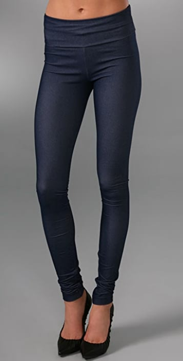 MEMBERS ONLY Fold Over Jersey Denim Leggings