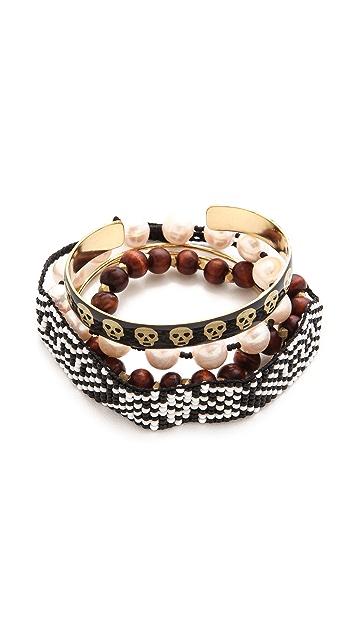 Mercedes Salazar Skull Bracelet Set