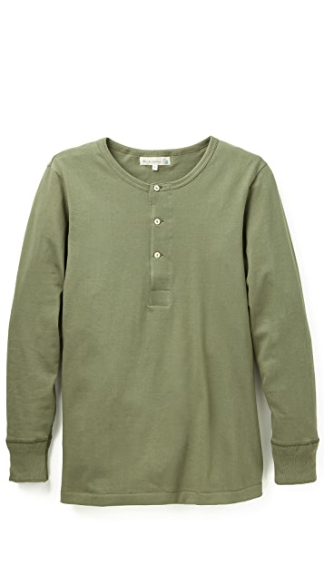 Merz b. Schwanen Button Facing Long Sleeve T-Shirt