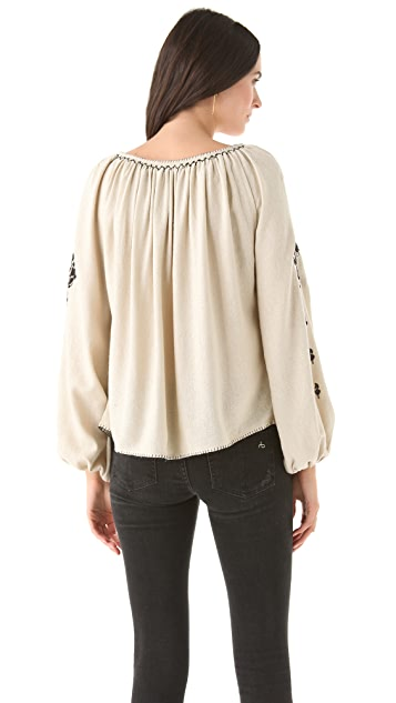 Mes Demoiselles Isa Embroidered Top