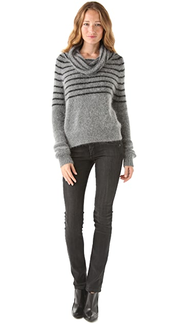 Mes Demoiselles Gaby Striped Cowl Sweater
