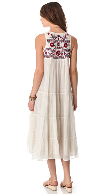 Mes Demoiselles Jess Long Embroidered Dress