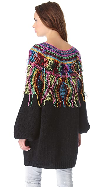 Mes Demoiselles Maya Neon Knit Sweater
