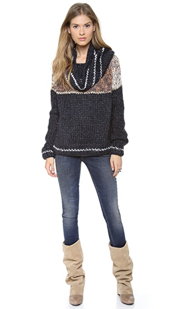 Mes Demoiselles Maud Cowl Neck Sweater