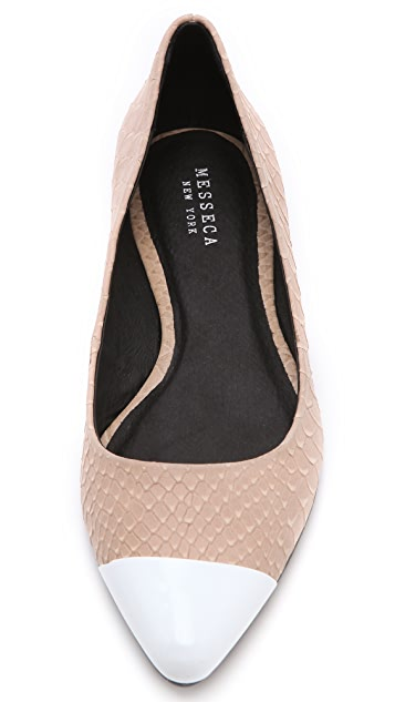 Messeca New York Jacqueline Metal Toe Flats