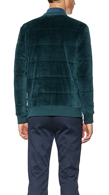Editions M.R. Velour Quilted Pullover
