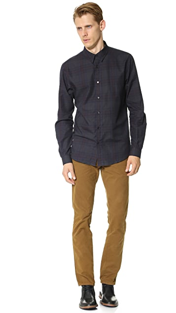 Editions M.R. St. Germain Collar Check Shirt