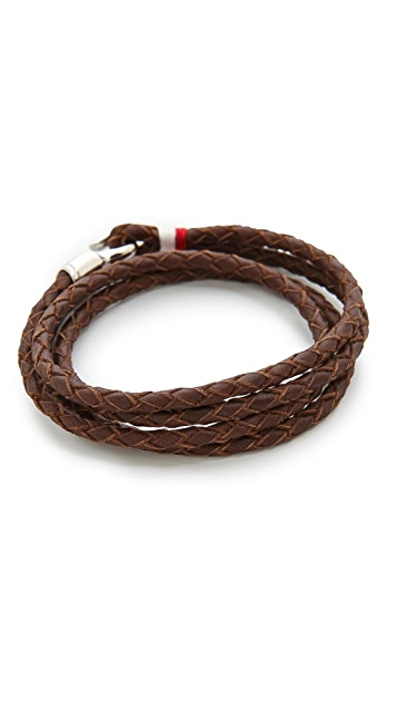 Miansai Trice Woven Leather Wrap Bracelet