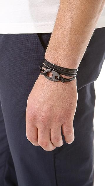 Miansai Brummel Hook Noir Bracelet