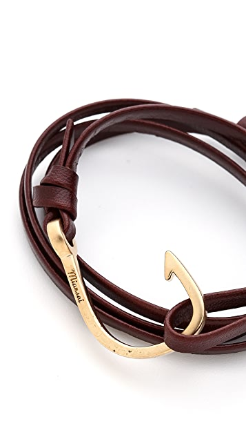 Miansai Hooked Leather Wrap Bracelet