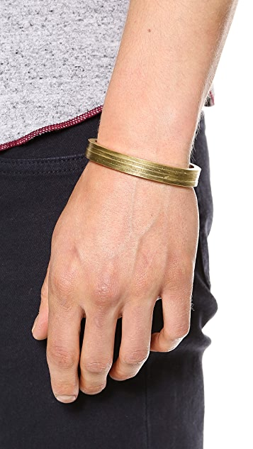 Miansai Layered Brass Cuff