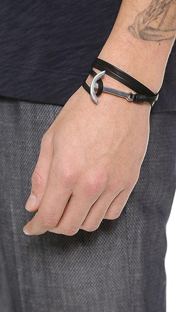 Miansai Modern Anchor Wrap Bracelet