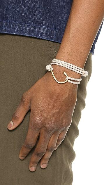 Miansai Brass Hook Rope Bracelet