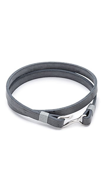 Miansai Foksol Leather Wrap Bracelet