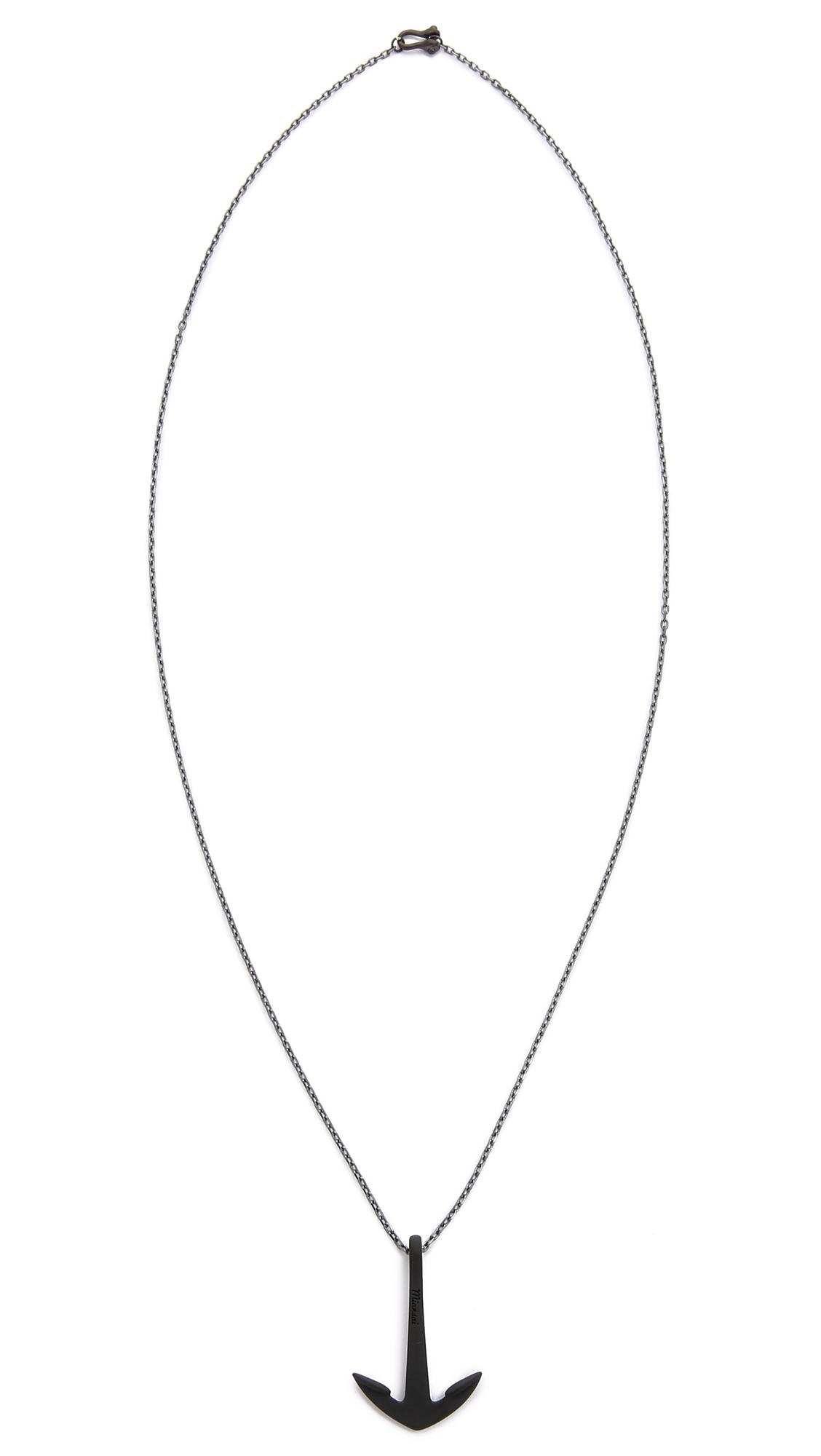 Anchor Necklace Noir
