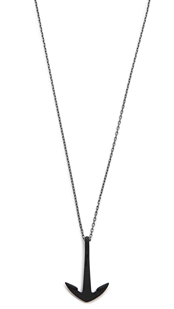 Miansai Anchor Necklace Noir