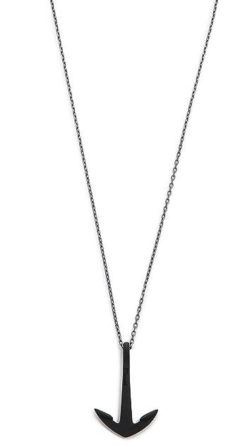 Miansai Anchor Necklace Noir