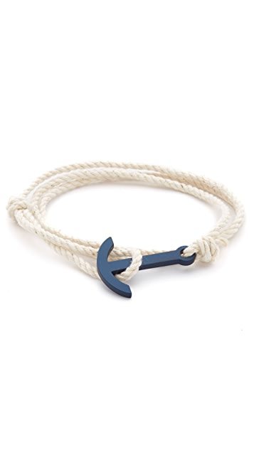 Miansai Navy Blue Modern Anchor Rope Bracelet