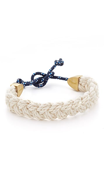 Miansai Brushed Gold Plated Nantucket Bracelet