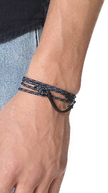 Miansai Hook on Rope Noir Bracelet
