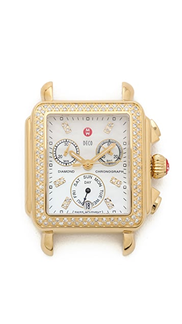 MICHELE Deco Diamond Dial Watch
