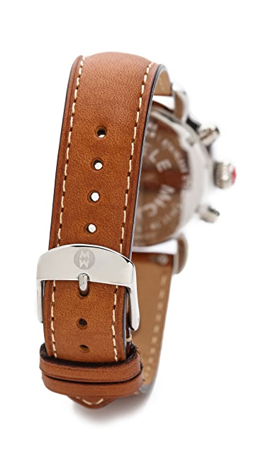 MICHELE 18mm Saddle Watch Strap