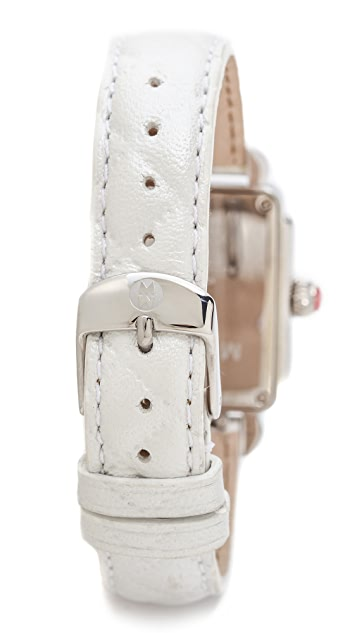 MICHELE 16mm Quilted Leather Watch Strap