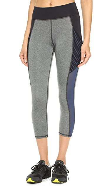 MICHI Stardust Crop Leggings with Pockets