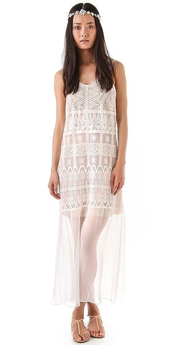 Miguelina Odette Lace Mesh Dress