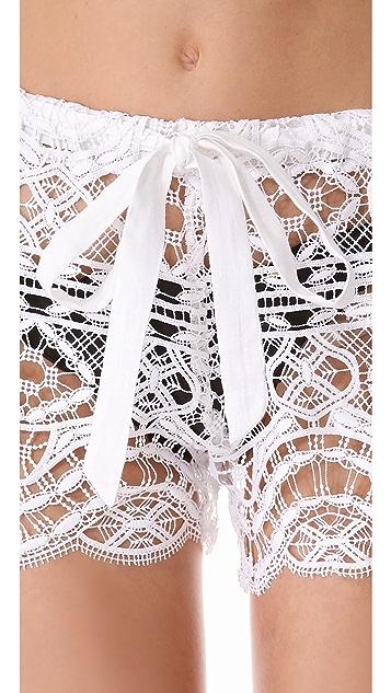 Miguelina Eric Geometric Lace Shorts
