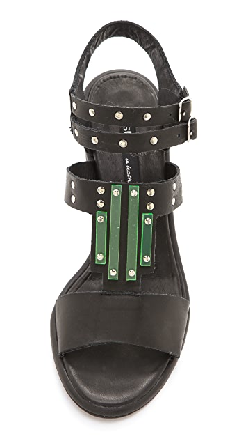 Miista Maggie Glass Detail Sandals