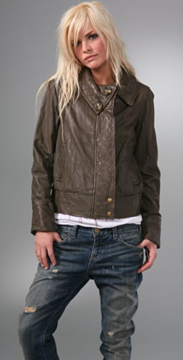 Mike & Chris Maurice Quilted Leather Jacket