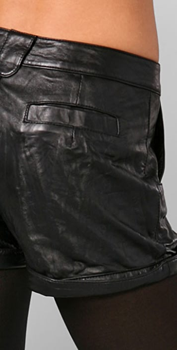 Mike & Chris Jake Leather Shorts