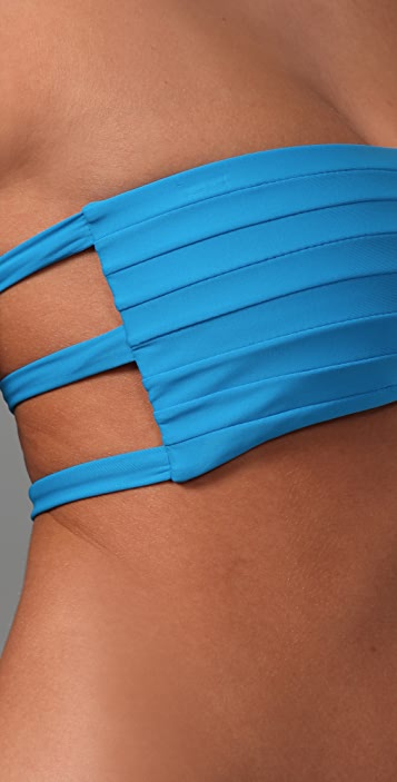 MIKOH Molokai Banded Bikini Top