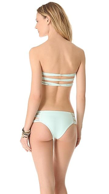 MIKOH Sunset Looped Bandeau Bikini Top